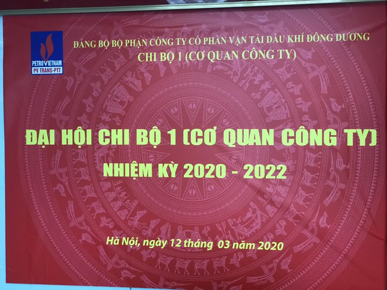 Đại hội Chi bộ 1 (Cơ quan Công ty) lần thứ II, nhiệm kỳ 2020-2022