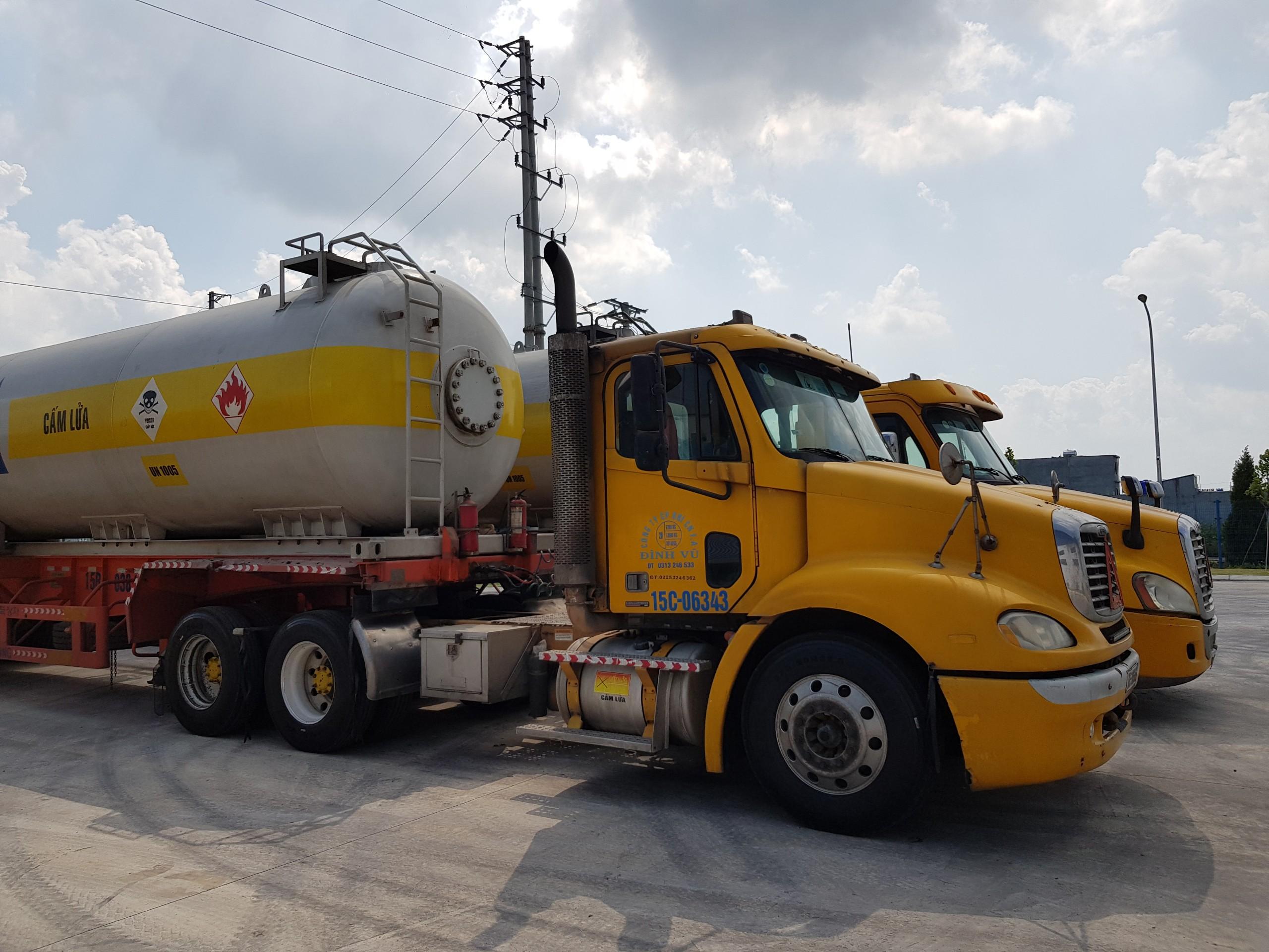 Dịch vụ kinh doanh vận tải hóa chất NH3, CO, CO2