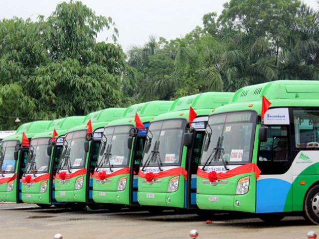 Hà Nội vận hành chính thức 03 tuyến xe buýt sử dụng nhiên liệu sạch CNG